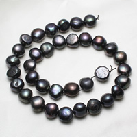 Baroque Cultured Freshwater Pearl Beads, dark purple, 12-13mm, Hole:Approx 0.8mm, Length:Approx 14.5 Inch, Sold By Strand