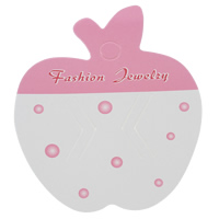 Hair Clip Display Card, Paper, Apple, with letter pattern & two tone, 65x78mm, 1000PCs/Bag, Sold By Bag