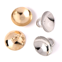 Brass End Cap, plated, more colors for choice, nickel, lead & cadmium free, 10x8, Hole:Approx 4mm, 1000PCs/Bag, Sold By Bag