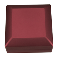 Leather Bracelet Boxes, PU, with Glue Film & Velveteen, Square, red, 99x99x49.5mm, Sold By PC