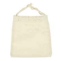 Linen Drawstring Pouches, with Cotton, Rectangle, beige, 104x107x5mm, Sold By PC