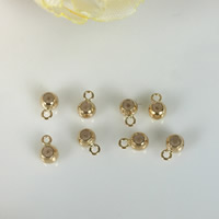 925 Sterling Silver Stopper Beads, Round, plated, with loop, more colors for choice, 4mm, Hole:Approx 2mm, Sold By PC