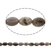 Natural Lace Agate Beads, Flat Oval, 14x10x6mm, Hole:Approx 1mm, Length:Approx 15.5 Inch, Approx 29PCs/Strand, Sold By Strand