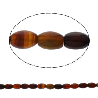 Natural Lace Agate Beads, Oval, 10x14mm, Hole:Approx 1mm, Length:Approx 15.5 Inch, Approx 28PCs/Strand, Sold By Strand