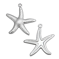 Stainless Steel Animal Pendants, Starfish, original color, 20x22x2.5mm, Hole:Approx 1mm, Sold By PC