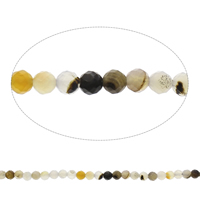 Natural Lace Agate Beads, Round, faceted, mixed colors, 8mm, Hole:Approx 1mm, Length:Approx 14.5 Inch, Approx 47PCs/Strand, Sold By Strand
