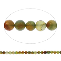 Natural Lace Agate Beads, Round, faceted, mixed colors, 10mm, Hole:Approx 1mm, Length:Approx 14.5 Inch, Approx 38PCs/Strand, Sold By Strand