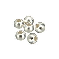 925 Sterling Silver Stopper Beads, with Silicone, Rondelle, plated, more colors for choice, 3mm, Hole:Approx 1.5mm, Sold By PC
