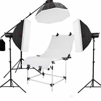 Mini Photo Studio Set, Aluminum, flash lamp & softbox & photo shooting table​ & ​light stand & bracket, with Nylon, plated, Sold By Set