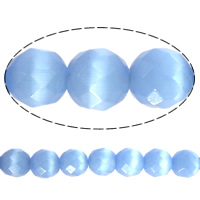 Cats Eye Beads, Round, faceted, more colors for choice, 12mm, Hole:Approx 1-2mm, Length:Approx 15.5 Inch, Approx 32PCs/Strand, Sold By Strand