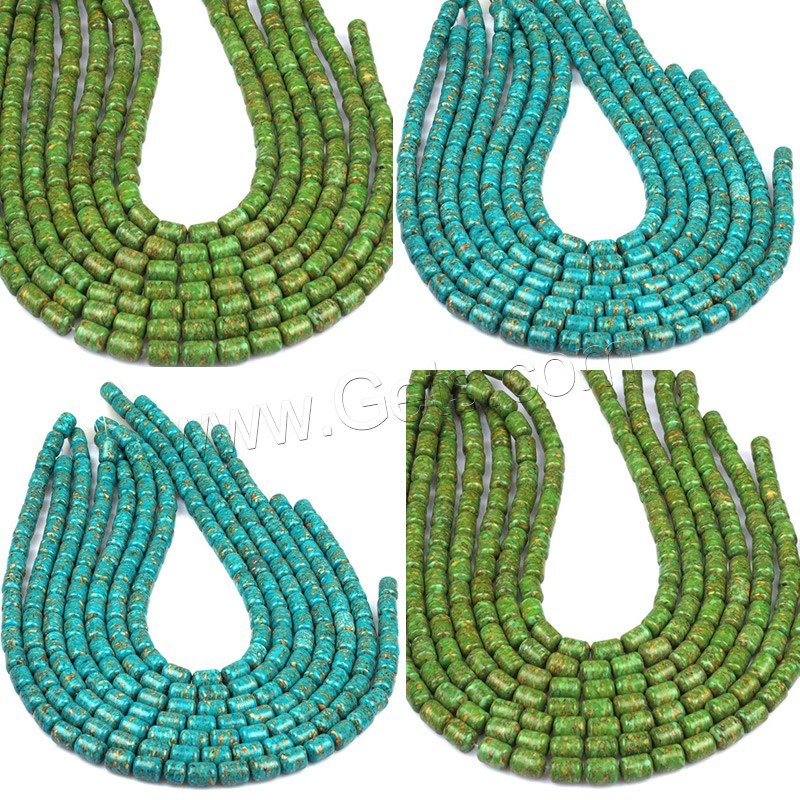 Mosaic Turquoise Beads Column Synthetic