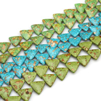 Mosaic Turquoise Beads, Triangle, synthetic, more colors for choice, 20mm, Hole:Approx 1.5mm, Sold By PC