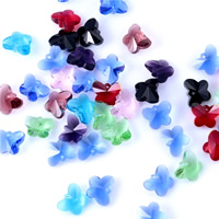 Crystal Jewelry Pendants, Butterfly, faceted, mixed colors, 14mm, Hole:Approx 1mm, Sold By PC