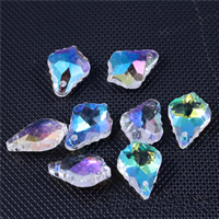 Crystal Jewelry Pendants, faceted, mixed colors, 12x16mm, Hole:Approx 1mm, Sold By PC