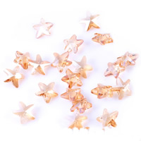 Crystal Jewelry Pendants, Star, faceted, 14mm, Hole:Approx 1mm, Sold By PC
