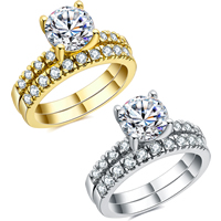 Brass Ring Set, plated, different size for choice & micro pave cubic zirconia & for woman, more colors for choice, 8mm, Sold By PC