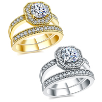 Brass Ring Set, plated, different size for choice & micro pave cubic zirconia & for woman, more colors for choice, 11mm, Sold By PC