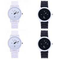 Unisex Wrist Watch, Silicone, with zinc alloy dial & Glass, Chinese movement, stainless steel pin buckle, painted, adjustable, more colors for choice, 40mm, 16mm, Length:Approx 9 Inch, Sold By PC