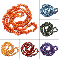 Synthetic Coral Beads, Nuggets, more colors for choice, 10x8x3mm-17x11x10mm, Hole:Approx 1mm, Length:Approx 33 Inch, Approx 150PCs/Strand, Sold By Strand