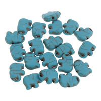 Synthetic Turquoise Beads, Elephant, different size for choice, more colors for choice, Hole:Approx 1mm, Sold By Bag