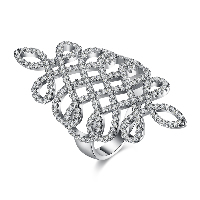 comeon® Finger Ring, Brass, platinum plated, different size for choice & for woman & with rhinestone & hollow, Sold By PC