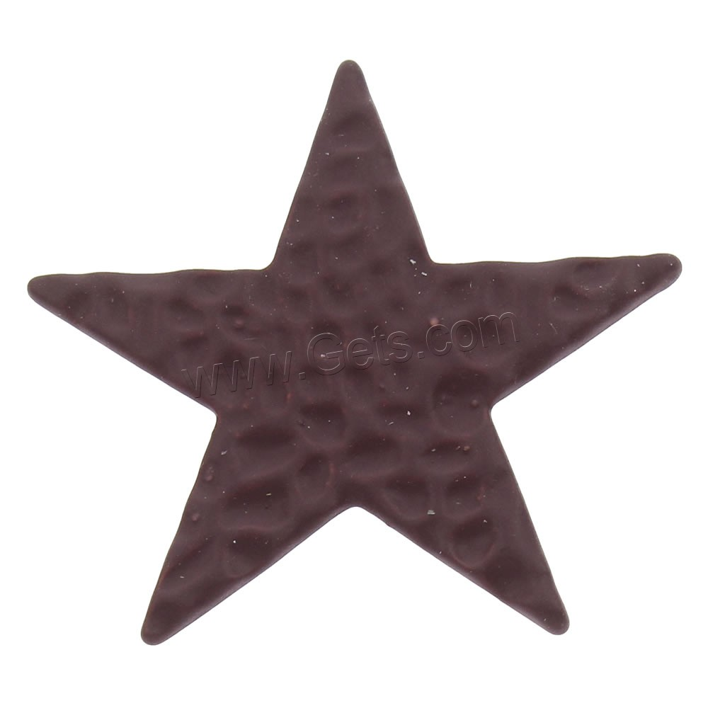 Fashion costume decoration zinc alloy star painted dark for Decoration zinc