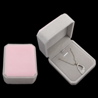 Velveteen Necklace Box, with Cardboard, Octagon, two tone, 104x45mm, Sold By PC