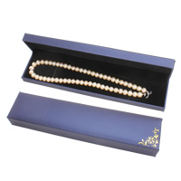 PU Necklace Box, with Cardboard & Velveteen, Rectangle, purple, 225x51x29mm, Sold By PC