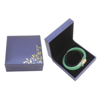 PU Bracelet Box, with Cardboard & Velveteen, Square, purple, 88x92x34mm, Sold By PC