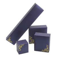 PU Jewelry Set Box, bangle & pendant & finger ring & necklace, with Cardboard & Velveteen, purple, 225x51x29mm, 88x92x34mm, 69x82x34mm, 47x53x37mm, Sold By Set