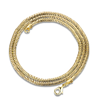 Newegg® Jewelry Necklace, Brass, 18K gold plated, different length for choice & snake chain & for woman, Sold By Strand