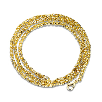 Newegg® Jewelry Necklace, Brass, 18K gold plated, different length for choice & rope chain & for woman, Sold By Strand
