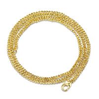 Newegg® Jewelry Necklace, Iron, 18K gold plated, different length for choice & rope chain & for woman, Sold By Strand