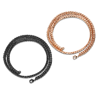 Newegg® Jewelry Necklace, Brass, plated, different length for choice & twist oval chain & for man, more colors for choice, 6mm, Sold By Strand