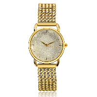 comeon® Women Jewelry Watch, Zinc Alloy, with Glass, Chinese movement, gold color plated, for woman, 31mm, Length:Approx 7.8 Inch, Sold By PC
