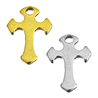Stainless Steel Cross Pendants, Sword Cross, plated, more colors for choice, 8.5x12x1mm, Hole:Approx 1.5mm, Sold By PC