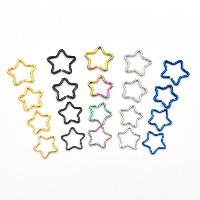 Stainless Steel Piercing Earring, Star, plated, different size for choice, more colors for choice, Sold By PC