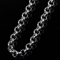 Stainless Steel Rolo Chain, original color, 5mm, Sold By m