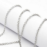 Stainless Steel Rolo Chain, original color, 1.5mm, Sold By m