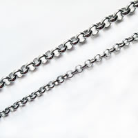 Stainless Steel Rolo Chain, different size for choice, original color, Sold By m