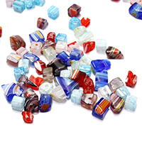 Murano Millefiori Lampwork Beads, mixed, 4-10x4.5-8x2.5-5mm, Hole:Approx 0.6mm, 100PCs/Bag, Sold By Bag