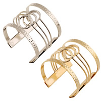 Iron Cuff Bangle, plated, more colors for choice, lead & cadmium free, 55mm, Inner Diameter:Approx 60mm, Length:Approx 7 Inch, Sold By PC