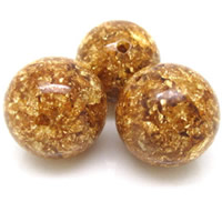 Imitation Amber Resin Beads, Round, different size for choice, Hole:Approx 1-2mm, Sold By PC
