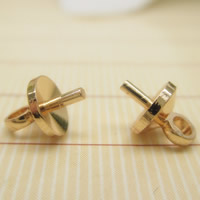 Brass Peg Bail, 24K gold plated, lead & cadmium free, 5mm, Hole:Approx 1-2mm, Inner Diameter:Approx 1mm, Sold By PC