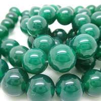 Natural Green Agate Beads, Round, different size for choice, Hole:Approx 1-2mm, Sold By PC