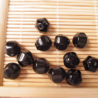 Natural Black Agate Beads, Lantern, 8mm, Hole:Approx 1-2mm, Sold By PC