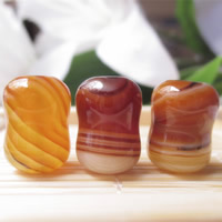 Natural Lace Agate Beads, Drum, 11x15mm, Hole:Approx 1-2mm, Sold By PC