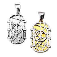 Stainless Steel Pendants, Peace Logo, plated, more colors for choice, 20x34x5mm, Hole:Approx 4x8mm, Sold By PC