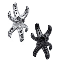 Brass Bead Cap, Claw, plated, micro pave cubic zirconia & double-sided, more colors for choice, 9x19x9mm, Hole:Approx 2mm, Sold By PC