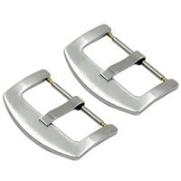 201 Stainless Steel Pin Buckle, different size for choice & brushed, original color, Sold By PC